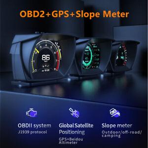 HUD Head-up Display OBD GPS Inclinometer Driving Direction Latitude Speedometer