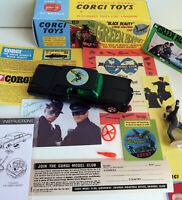 Custom Corgi Green Hornet Black Beauty~in Special 268 Fantasy Box & Extras