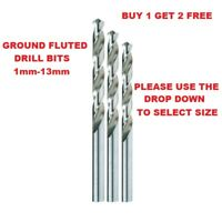 DRILL BITS GROUND FLUTED-1mm-13mm CARBON, ALLOY STEEL,& PLASTIC Buy 1 Get 2 Free