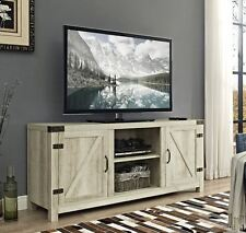 "Rustic TV Stand Flat Screen Console Up To 65"" Wood Farmhouse Shabby Chic White"