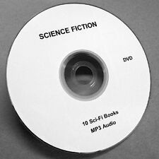 SCIENCE FICTION 10 Sci-Fi BOOKS ON 1 DVD. MP3 AUDIO. Full Length Unabridged.