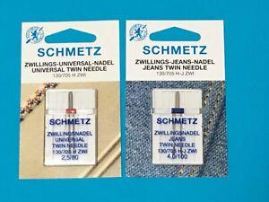 Schmetz Zwillingsnadel 130-705 H-J,S 4,0/100- 80 für Jeans und Universal 2 Stück