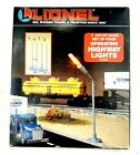 Set of 4 Lionel O and 027 Scale Operating Highway Lights - 6-12804 NOS