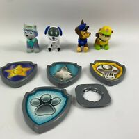 Paw Patrol - Robo Dog and pup figures  & Badges -Bundle  Rare free delivery