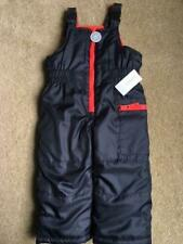CARTERS Winter Insulated Snow Pants Bib BLACK & RED...