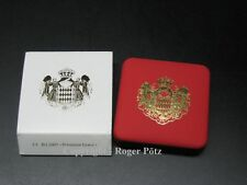 Münz Etui und Schleife für Monaco 2 Euro Prinzessin Grace Kelly 2007