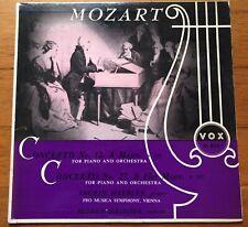 Mozart~Ingrid Haebler~Concertos No. 12 & 27~Hollreiser~Vienna~1954 VOX Mono LP