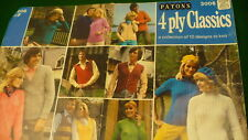 Patons 4 ply classics 10 vintage design to knit  sweater hat vest Patons Baldwin