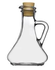 OIL AND VINEGAR BOTTLE CLEAR GLASS CORK LID DRESSING DISPENSER 260ml