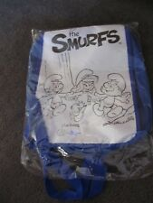 SMURFS...the smurfs...new colour in BACKPACK with crayons !!! Peyo