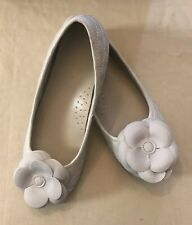 L`Amour Little Girls White Special Occasion Flower Flat Size 2 Kids-New