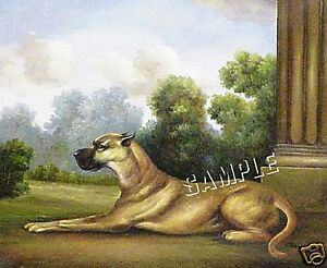 VICTORIAN GREAT DANE VINTAGE *CANVAS* DOG ART PRINT