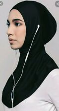 Sports Hijab With Dry Fit Technology Breathable and Quick Dry Earphone Friendly