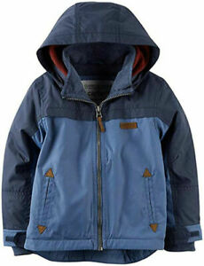 Carter's Boys Blue Midweight Fleece Lined Jacket Size 2T 3T 4T 4 5/6 7