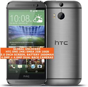 "HTC ONE (M8) EMEA 2gb 16gb Quad-Core 4.0mp Led Flash 5.0"" Android 4g Smartphone"