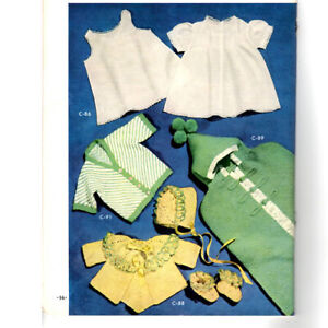 Vintage Crochet/Knit Patterns Baby Sweaters & Bunting 1950's Baby Patterns