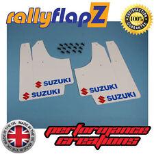 rallyflapZ SUZUKI IGNIS Sport 03-05 Mud Flaps White Logo Red & Blue (3mm PVC)