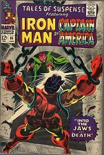 TALES OF SUSPENSE #85-1967-IRON MAN & CAPTAIN AMERICA-THE MANDARIN-JAWS OF DEATH