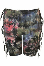 TOPSHOP fringed cycling shorts UK 8 in Black/Multi - New with tags