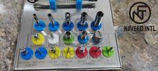 Dental Implant Bone Remover Kit Long Trephine Screw Drivers Drill Wrench 18 Pcs