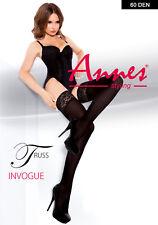 ANNES Truss Luxury 60 Denier Super Fine Microfibre Lace Top Hold Ups
