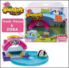 Zuru HAMSTERS IN A HOUSE Set ZORA Set Hamster Pet  + Home Track Accessory New