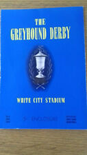 1960 Greyhound Derby racecard Duleek Dandy