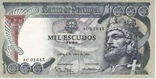 RARE BANKNOTE PORTUGAL 1000 ESCUDOS YEAR 1965 IN GOOD CONDITION - DIFFICULT!!