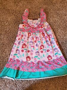 Jelly Pug 10 Girls Dress Mermaid Pink Green Sea Shell Sleeveless Star Fish