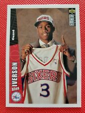ALLEN IVERSON ROOKIE CARD 1996-97 Upper Deck Collector's Choice RC #301 76ers🔥