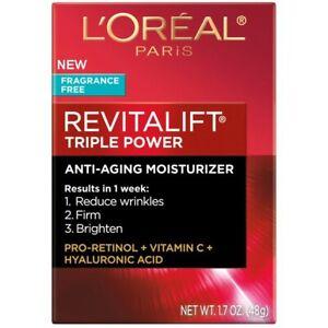 NEW L'Oreal Paris Skin Care, Revitalift Triple Power Fragrance free 1.7OZ