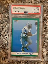 1991 FLEER #247 BARRY SANDERS *PSA GRADED NM/MT 8 **SHARP* KGC-17447