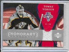 07-08 Trilogy Tomas Vokoun Honorary Swatches Jersey