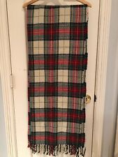 NWT Abercrombie And Fitch Women Heavyweight Red Plaid Scarf $38