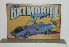 DCBR2 The Batmobile DC Comics  Metal Sign New 30 cm W X 20 cm H