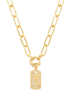 MeMe LONDON TWINKLE AND SHINE NECKLACE CHUNKY CHAIN 18 CARAT GOLD PLATED RP £165