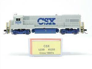 N Scale Atlas CSXT CSX Transportation GE U23B Diesel #3255 Custom - DCC Ready