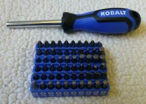 NEW Kobalt Magnetic Driver Multi-Bit Screwdriver Set with 60 Bits