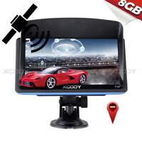 XGODY 7'' SAT NAV GPS Navigation System + Lifetime 3D Maps + Sunshade 8GB FM MP3