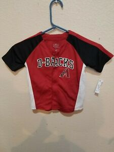 Arizona Diamondbacks D-Backs Jersey Size 3T Button Front Embroidered Logo
