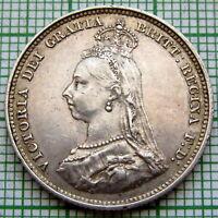 GREAT BRITAIN QUEEN VICTORIA 1887 JUBILEE SHILLING, SILVER