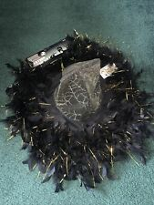 NWT Totally Ghoul Gold Feather Witch Hat Adult Halloween costume