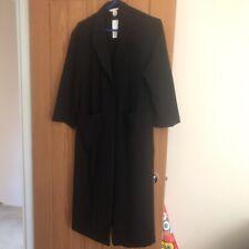Size 8 Longline Duster Black Coat H&M