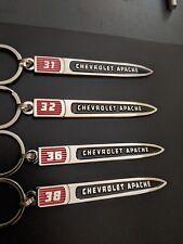 Chevrolet Apache Emblem Keychains.31,32,36,38 Series. Get All 4..(F1,2,3)(G1)