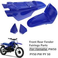 Garde-boue avant arrière en plastique bleu avec kit de pièces pour Yamaha PW50