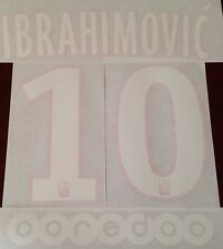 Kids 2015-16 PSG Ibrahimovic#10 Home Shirt OFFICIAL MonBlason Name Number