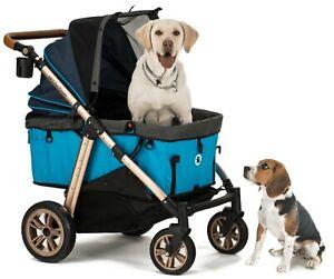 HPZ PET ROVER TITAN HD Super-Size Pet Stroller SUV for S/M/L/XL Dogs&Cats - Blue