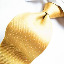 BIJOUX TERNER  Yellow Gold with Ivory Polka Dots Tie