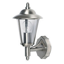 LED Polished Stainless Steel Modern Wall Light IP44 Outside Wall Light c/w Bulb