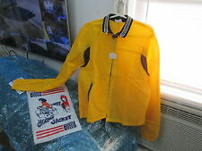 Vintage Cherry Intl Safety Cycling Jacket Yellow & Brown Size Med Made in Japan